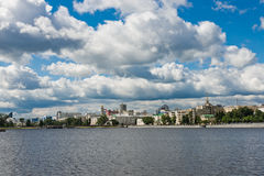 Quay wharf embankment Yekaterinburg City. Stock Photography