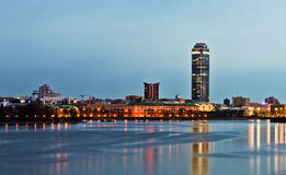 Quay of Yekaterinburg, evening Royalty Free Stock Image