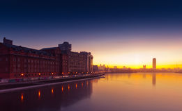 Quay of  Yekaterinburg, Russia Royalty Free Stock Photography