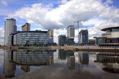 Quays de Salford em Manchester Fotografia de Stock Royalty Free