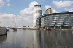 Quays de Salford em Manchester Imagem de Stock Royalty Free