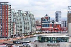 Quays de Salford, Manchester Imagem de Stock Royalty Free