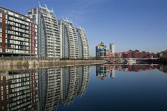 Quays de Salford - Manchester - Inglaterra Foto de Stock Royalty Free