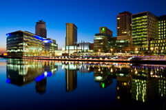quays di salford di BBC Immagine Stock