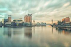Quays di Salford, Manchester Immagine Stock Libera da Diritti