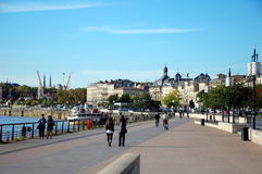Quays of the Garonne Stock Photos