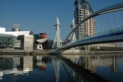 Quays Manchester di Salford Fotografia Stock Libera da Diritti