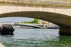 Quays of the Seine Parisian. Sight of the bridge Alexander III, more beautiful view of Paris Stock Image