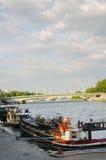 Quays of the Seine Parisian. Sight of the bridge Alexander III, more beautiful view of Paris Stock Photos