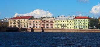 Quays st Petersburg Zdjęcia Royalty Free