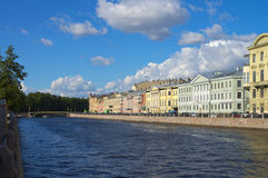 Quays of St.Petersburg Stock Photos