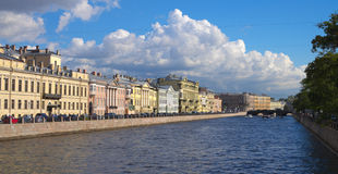 Quays of St.Petersburg Stock Photo