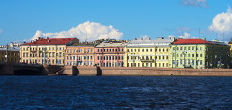 Quays of St.Petersburg Royalty Free Stock Photos