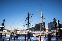 Quayside at the Albert Dock in Liverpool England Stock Photography