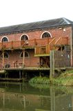 Quayside brick warehouse Stock Photo