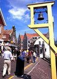 Quayside buildings, Volendam. Stock Image