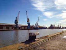 Quayside. A quayside on a busy port Royalty Free Stock Photography