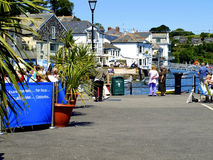 Quayside, Fowey, Cornwall. Stock Photos