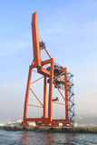 Quayside gantry crane Royalty Free Stock Photography