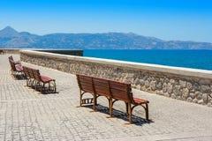 Quayside. Heraklion, Crete, Greece Royalty Free Stock Images