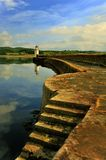 Quayside lighthouse, Ardrishaig, Scotland Stock Image