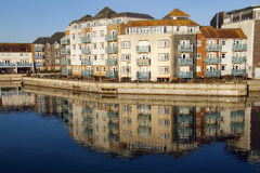 Quayside reflections Royalty Free Stock Image