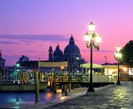 Quayside at sunset, Venice. Royalty Free Stock Photography