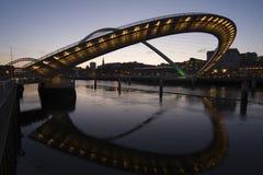 Quayside van Newcastle Stock Foto's