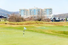 Quba - MARCH 26, 2015: Golf Course at Quba Rixos Royalty Free Stock Photography
