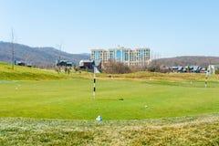 Quba - MARCH 26, 2015: Golf Course at Quba Rixos Stock Images