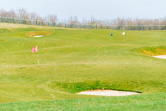 Quba - MARCH 26, 2015: Golf Course at Quba Rixos. Hotel on March 26 in Azerbaijan, Quba. Rixos hotel offers the only golf range in Azerbaijan Royalty Free Stock Photography