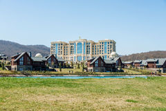 Quba - MARCH 26, 2015: Quba Rixos Hotel. On March 26 in Azerbaijan, Quba. Quba Rixos Hotel is luxury hotel in northern Azerbaijan Stock Images