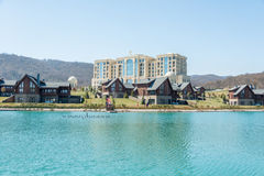 Quba - MARCH 26, 2015: Quba Rixos Hotel on March. 26 in Azerbaijan, Quba. Quba Rixos Hotel is luxury hotel in northern Azerbaijan Royalty Free Stock Photography