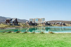 Quba - MARCH 26, 2015: Quba Rixos Hotel on March. 26 in Azerbaijan, Quba. Quba Rixos Hotel is luxury hotel in northern Azerbaijan Royalty Free Stock Photo
