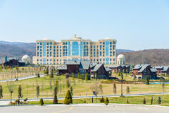 Quba - MARCH 26, 2015: Quba Rixos Hotel on March. 26 in Azerbaijan, Quba. Quba Rixos Hotel is luxury hotel in northern Azerbaijan Royalty Free Stock Photos