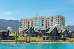 Quba, MARZEC - 26, 2015: Quba Rixos hotel na Marzec Zdjęcie Stock