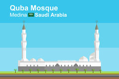 Quba moské av Medina Royaltyfria Bilder