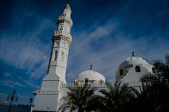 Quba mosque at medina stock photography