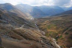 Qudialcay河谷在阿塞拜疆 库存图片