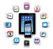 Que é apps está em sua rede móvel hoje? Fotografia de Stock