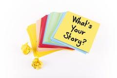 Que é sua história? Imagens de Stock