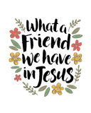 Que amigo nós temos em Jesus ilustração stock
