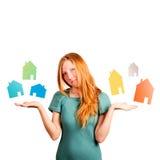 Que casa a escolher? Imagens de Stock