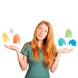 Que casa a escolher? Foto de Stock