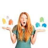 Que casa a escolher? Foto de Stock Royalty Free