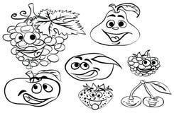 Que colorea ` de la serie de la fruta del ` de la página ilustración del vector