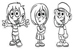 Que colorea ` de la serie del niño de la escuela del ` de la página stock de ilustración
