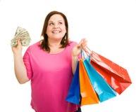 Que a comprar em seguida? Imagens de Stock