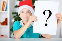 Que a comprar para o Natal? Imagem de Stock Royalty Free