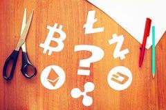 Que cryptocurrency é melhor de escolher Foto de Stock